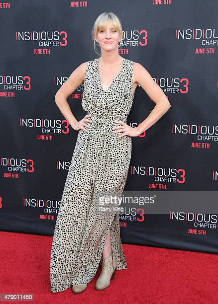 Actress Heather Morris attends the premiere of Focus Features' 'Insidious Chapter 3' at the TCL Chinese Theatre on June 4 2015 in Hollywood California