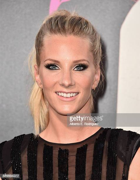 Actress Heather Morris attends the premiere of Warner Bros Pictures' 'War Dogs' at TCL Chinese Theatre on August 15 2016 in Hollywood California