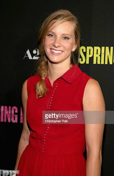 Actress Heather Morris attends the 'Spring Breakers' premiere at ArcLight Cinemas on March 14 2013 in Hollywood California