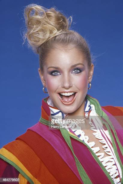 Actress Heather Thomas poses for a portrait in 1981 in Los Angeles California