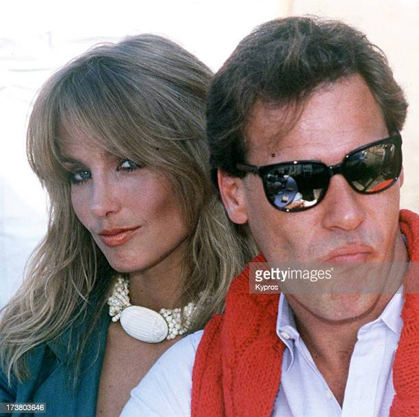 Actress Heather Thomas with actor Grainger Hines circa 1990
