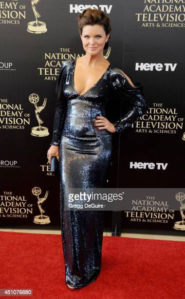 Actress Heather Tom arrives at the 41st Annual Daytime Emmy Awards at The Beverly Hilton Hotel on June 22 2014 in Beverly Hills California