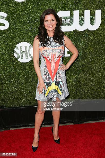 Actress Heather Tom arrives at the CBS CW Showtime Summer TCA Party at the Pacific Design Center on August 10 2016 in West Hollywood California