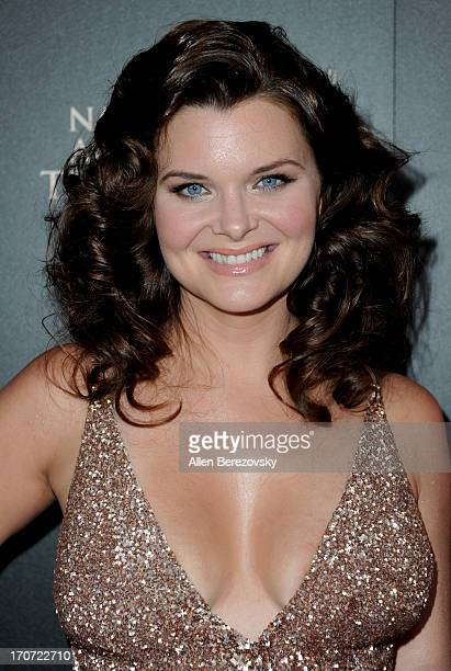 Actress Heather Tom attends 40th Annual Daytime Entertaimment Emmy Awards Arrivals at The Beverly Hilton Hotel on June 16 2013 in Beverly Hills...