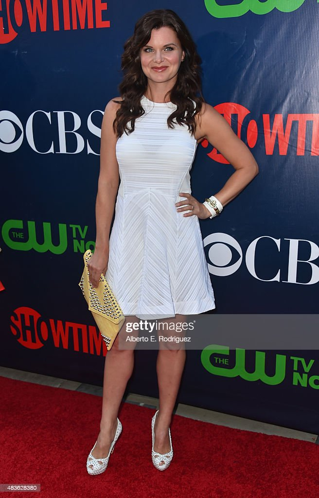 Actress <a gi-track='captionPersonalityLinkClicked' href=/galleries/search?phrase=Heather+Tom&family=editorial&specificpeople=208780 ng-click='$event.stopPropagation()'>Heather Tom</a> attends CBS' 2015 Summer TCA party at the Pacific Design Center on August 10, 2015 in West Hollywood, California.