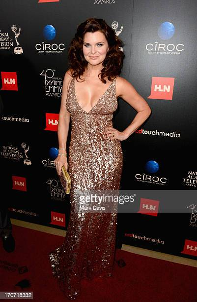 Actress Heather Tom attends The 40th Annual Daytime Emmy Awards at The Beverly Hilton Hotel on June 16 2013 in Beverly Hills California