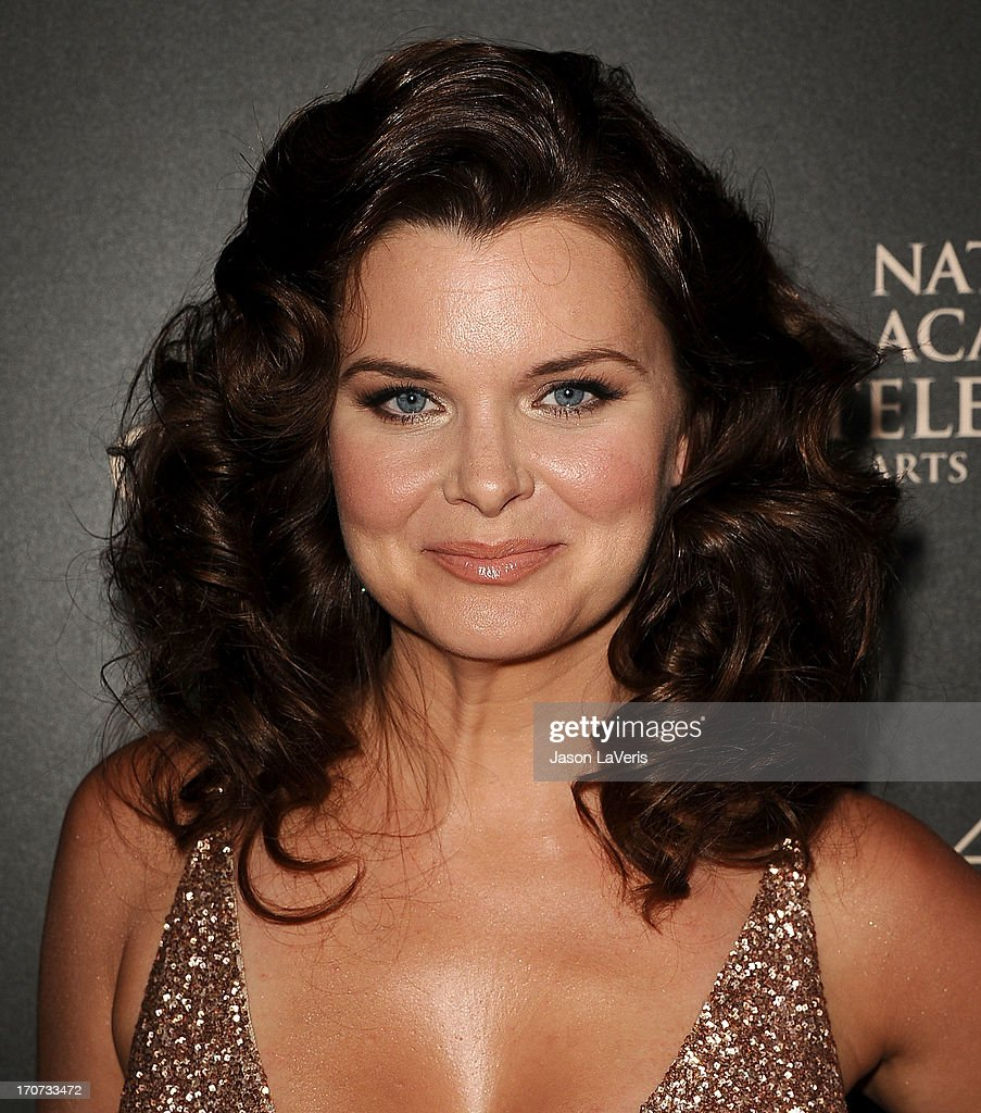 Actress Heather Tom attends the 40th annual Daytime Emmy Awards at The Beverly Hilton Hotel on June 16, 2013 in Beverly Hills, California.