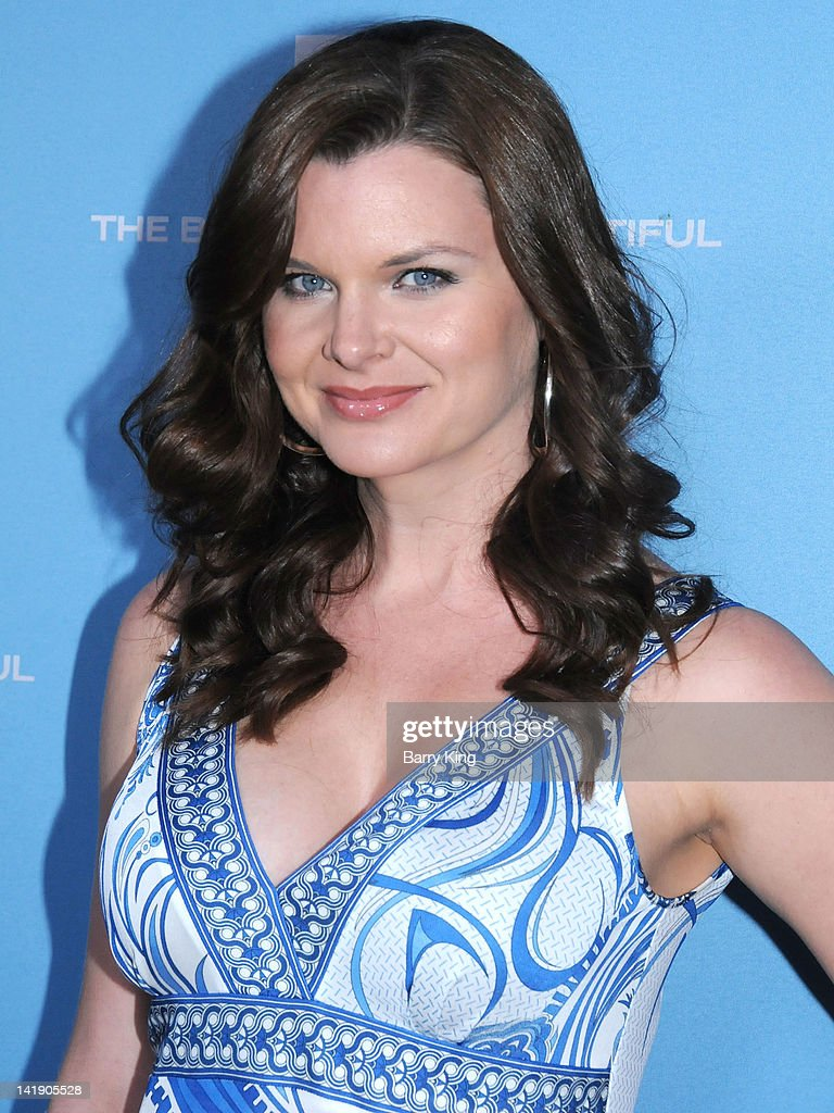 Actress <a gi-track='captionPersonalityLinkClicked' href=/galleries/search?phrase=Heather+Tom&family=editorial&specificpeople=208780 ng-click='$event.stopPropagation()'>Heather Tom</a> attends 'The Bold And The Beautiful' 25th silver anniversary party on March 10, 2012 in Los Angeles, California.