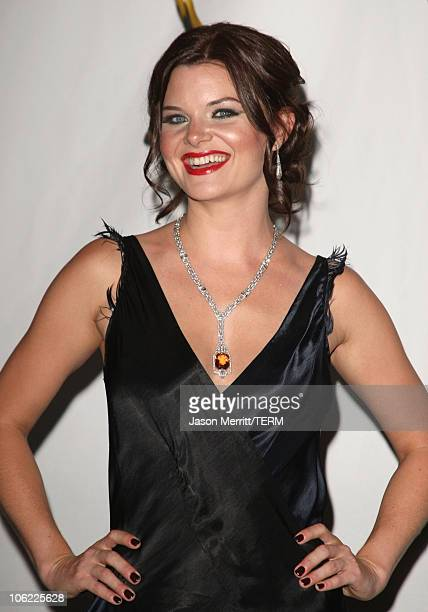 Actress Heather Tom in the press room at The 35th Annual Daytime Emmy Awards at the Kodak Theatre on June 20 2008 in Los Angeles California