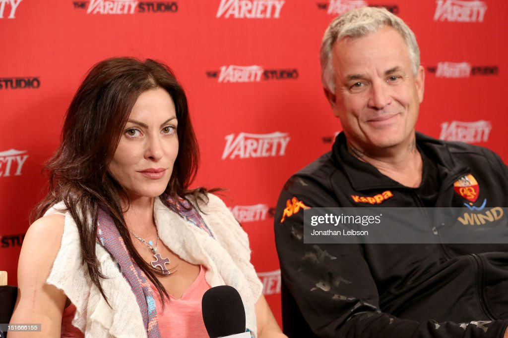 Actress Heather Wahlquist (L) and Filmmaker <a gi-track='captionPersonalityLinkClicked' href=/galleries/search?phrase=Nick+Cassavetes&family=editorial&specificpeople=504900 ng-click='$event.stopPropagation()'>Nick Cassavetes</a> speak at Variety Studio presented by Moroccanoil at Holt Renfrew on Day 2 at Holt Renfrew, Toronto during the 2012 Toronto International Film Festival on September 9, 2012 in Toronto, Canada.