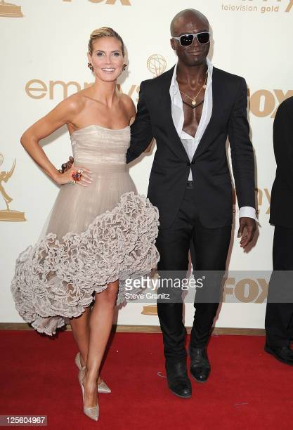 Actress Heidi Klum and actor Seal attends the 63rd Primetime Emmy Awards on September 18 2011 in Los Angeles United States