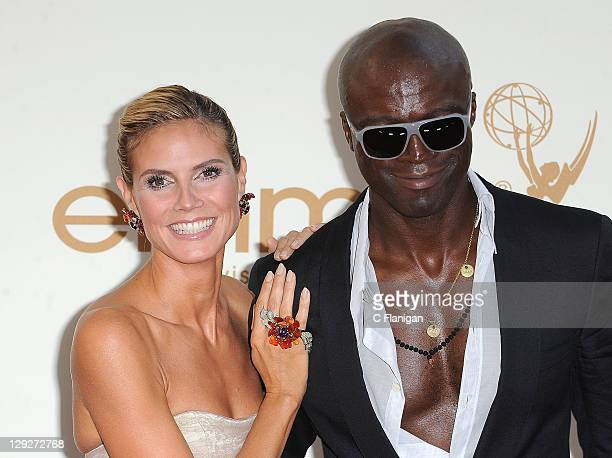 Actress Heidi Klum and Recording Artist Seal arrive at the 63rd Primetime Emmy Awards on September 18 2011 in Los Angeles California