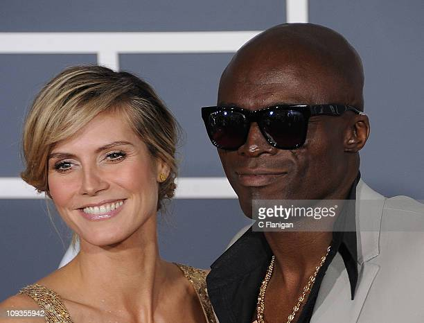 Actress Heidi Klum and Singer Seal arrive at The 53rd Annual GRAMMY Awards at Staples Center on February 13 2011 in Los Angeles California