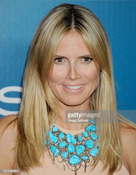 Actress Heidi Klum arrives at 13th Annual Warner Bros And InStyle Golden Globe After Party at The Beverly Hilton hotel on January 15 2012 in Beverly...