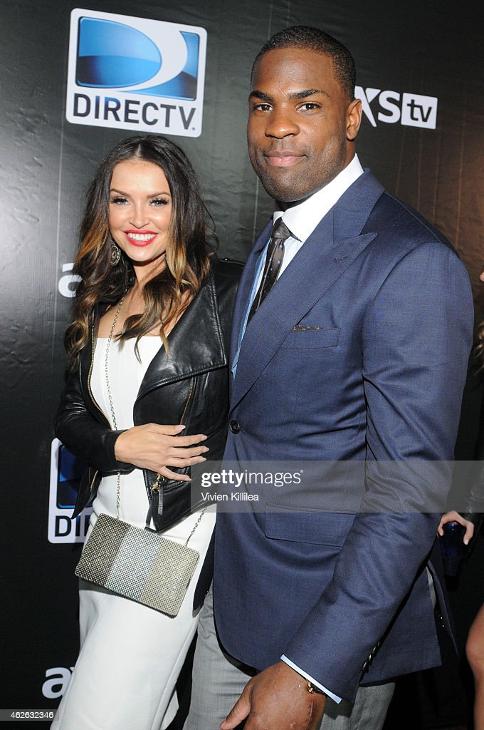 Actress Heidi Mueller and football player DeMarco Murray attend DIRECTV Super Saturday Night Arrivals at DIRECTV SuperFan Stadium on January 31 2015...