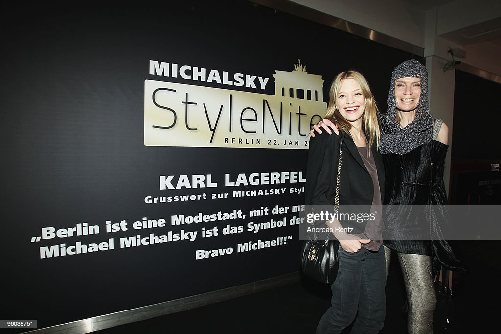 Actress <a gi-track='captionPersonalityLinkClicked' href=/galleries/search?phrase=Heike+Makatsch&family=editorial&specificpeople=206977 ng-click='$event.stopPropagation()'>Heike Makatsch</a> (L) and <a gi-track='captionPersonalityLinkClicked' href=/galleries/search?phrase=Veruschka&family=editorial&specificpeople=749611 ng-click='$event.stopPropagation()'>Veruschka</a> von Lehndorff arrive at the Michalsky Style Night during the Mercedes-Benz Fashion Week Berlin Autumn/Winter 2010 at the Friedrichstadtpalast on January 22, 2010 in Berlin, Germany.