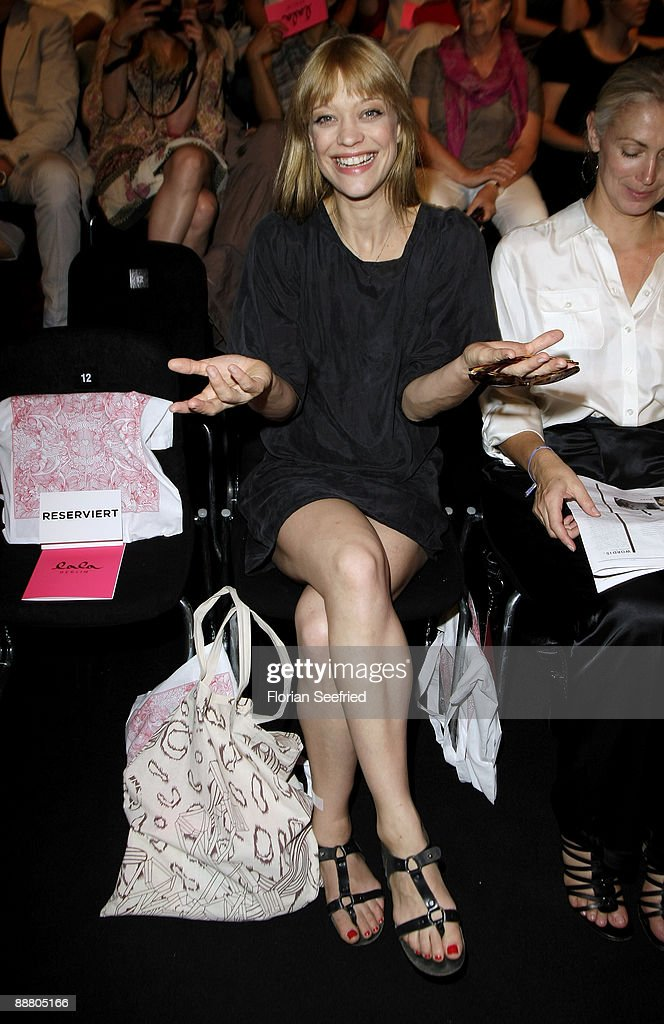 Actress Heike Makatsch attends the 'Lala Berlin Fashion Show' during the MercedesBenz Fashion Week S/S 2010 on July 2 2009 in Berlin Germany
