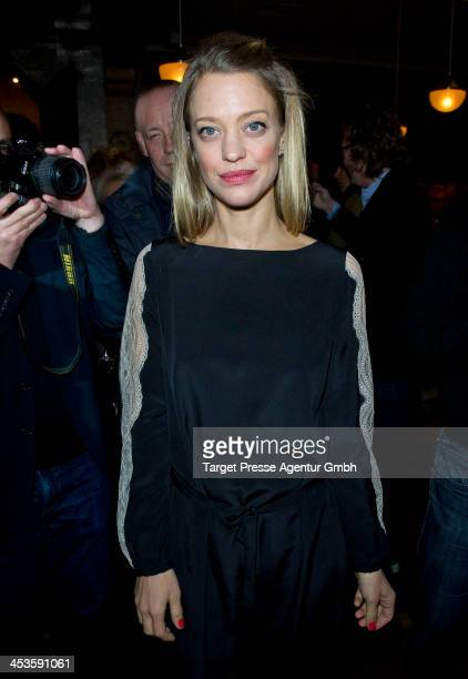 Actress Heike Makatsch attends the Medienboard PreChristmas Party at 'Q Restaurant' on December 4 2013 in Berlin Germany