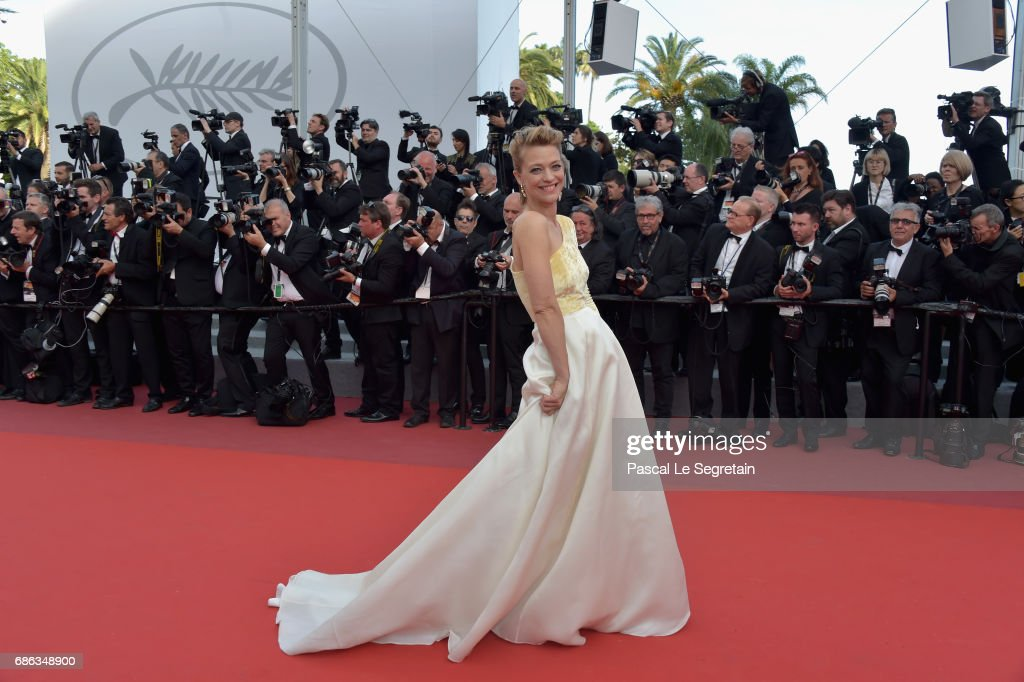Actress Heike Makatsch attends the 'The Meyerowitz Stories' screening during the 70th annual Cannes Film Festival at Palais des Festivals on May 21, 2017 in Cannes, France.