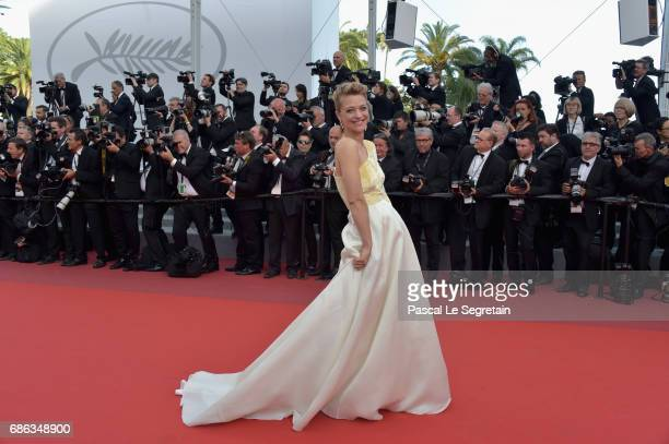 Actress Heike Makatsch attends the 'The Meyerowitz Stories' screening during the 70th annual Cannes Film Festival at Palais des Festivals on May 21...