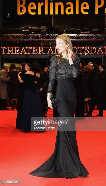 Actress Heike Makatsch attends the 'True Grit' Premiere during the opening day of the 61st Berlin International Film Festival at Berlinale Palace on...