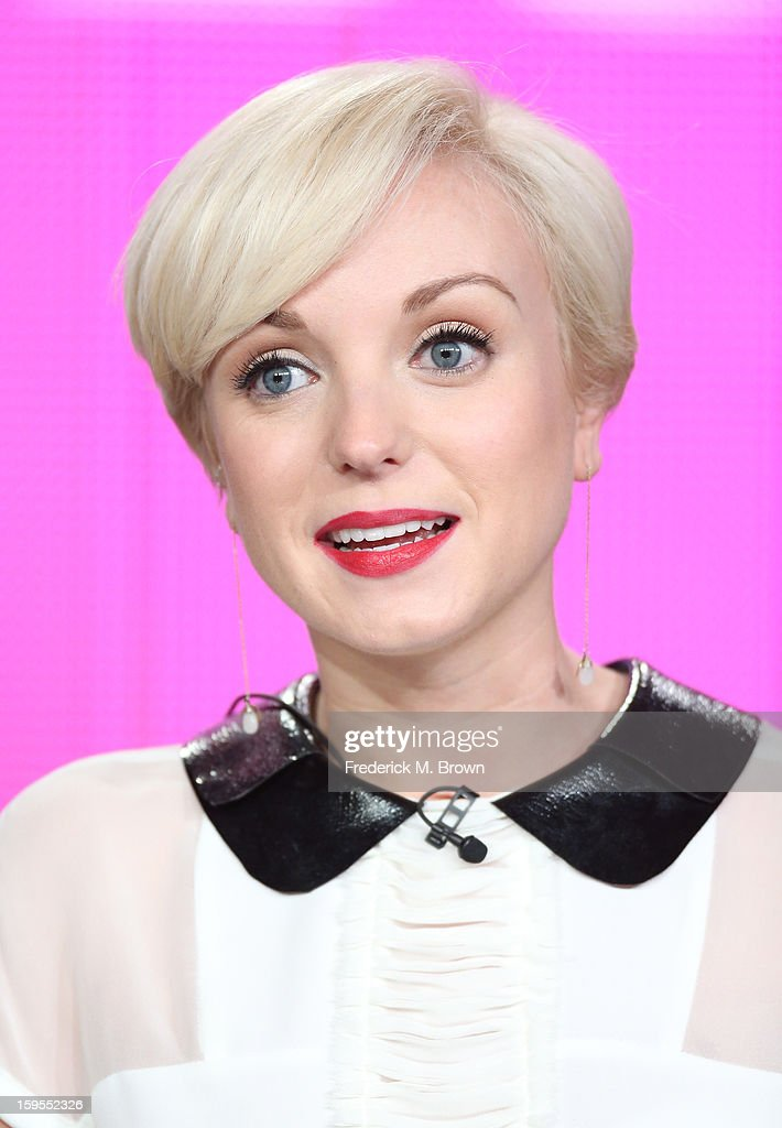 Actress Helen George speaks onstage during the 'Call The Midwife' panel discussion during the PBS Portion- Day 2 of the 2013 Winter Television Critics Association Press Tour at Langham Hotel on January 15, 2013 in Pasadena, California.