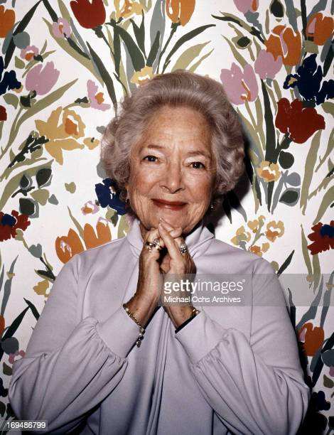 Actress Helen Hayes poses for a portrait in circa 1970