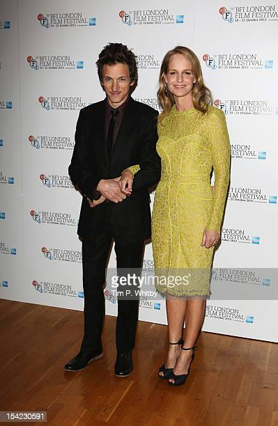 Actress Helen Hunt and actor John Hawkes attend the Premiere of 'The Sessions' during the 56th BFI London Film Festival at Odeon West End on October...