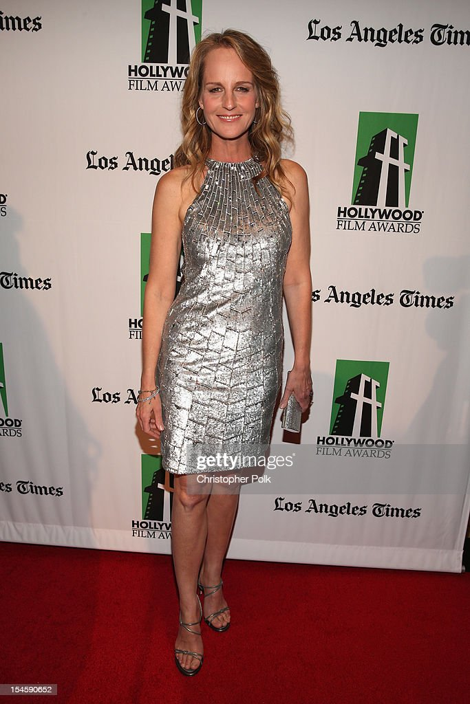 Actress Helen Hunt arrives at the 16th Annual Hollywood Film Awards Gala presented by The Los Angeles Times held at The Beverly Hilton Hotel on October 22, 2012 in Beverly Hills, California.