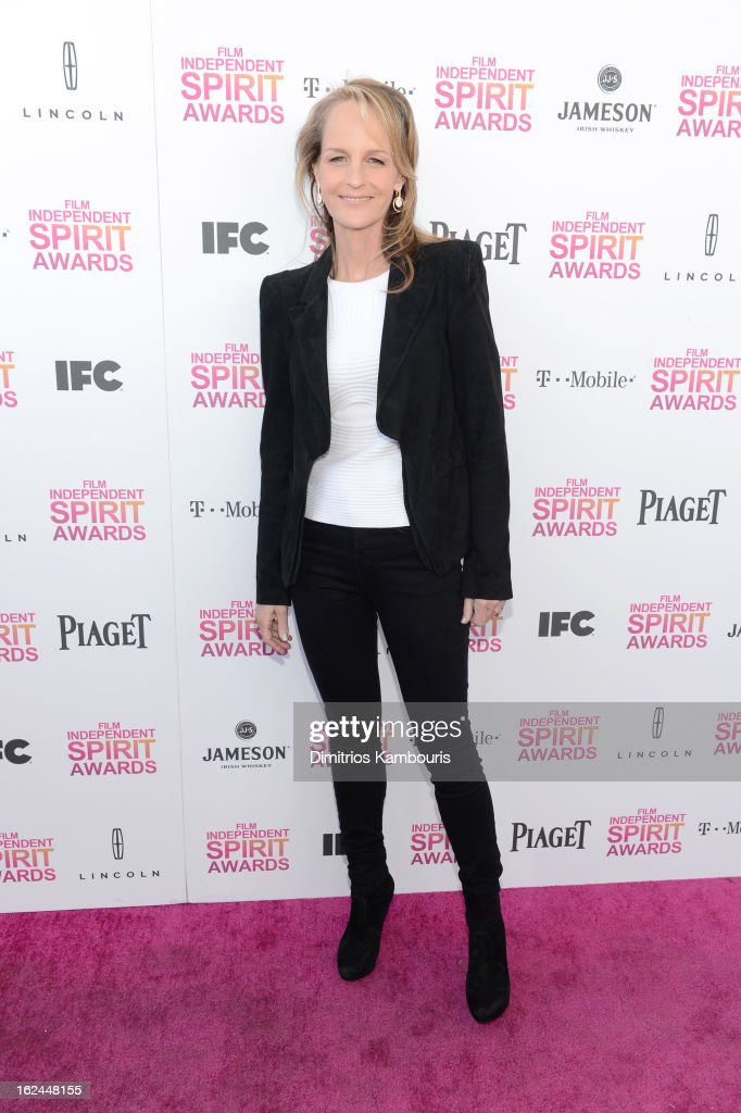 Actress Helen Hunt arrives with Jameson prior to the 2013 Film Independent Spirit Awards at Santa Monica Beach on February 23, 2013 in Santa Monica, California.