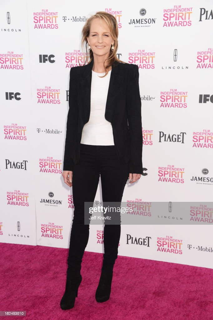 Actress Helen Hunt attends the 2013 Film Independent Spirit Awards at Santa Monica Beach on February 23, 2013 in Santa Monica, California.