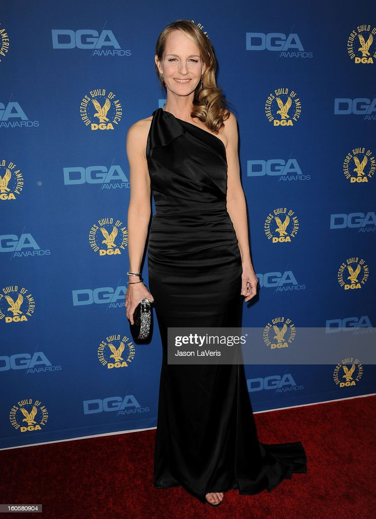 Actress Helen Hunt attends the 65th annual Directors Guild Of America Awards at The Ray Dolby Ballroom at Hollywood & Highland Center on February 2, 2013 in Hollywood, California.