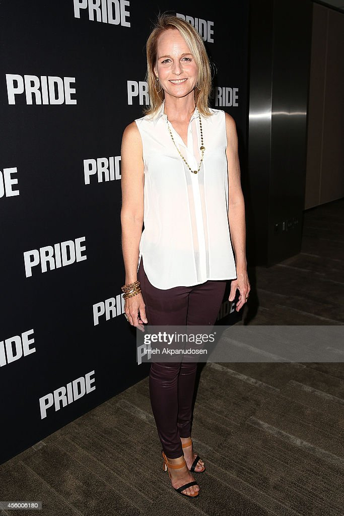 Actress Helen Hunt attends the screening of CBS Films' 'Pride' at AMPAS Samuel Goldwyn Theater on September 23 2014 in Beverly Hills California