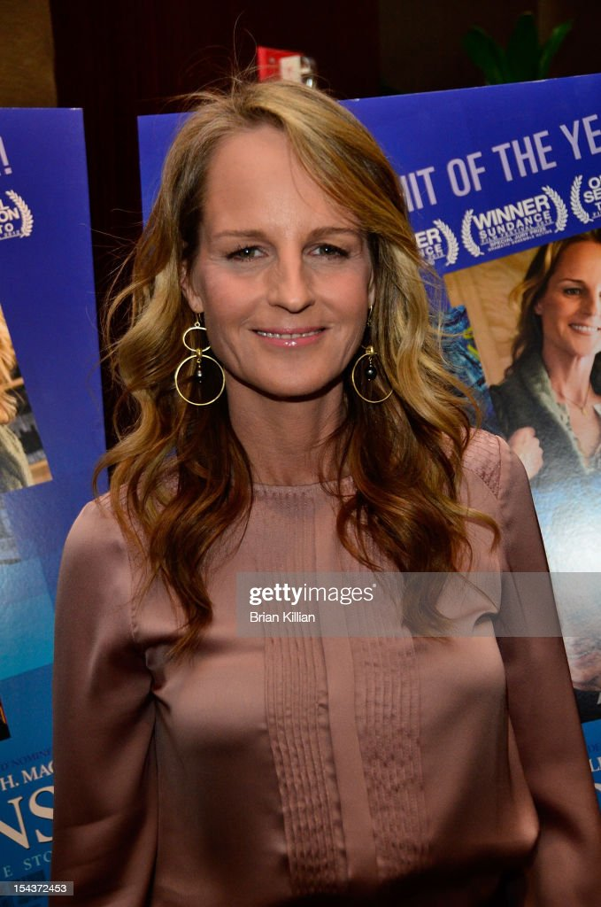 Actress Helen Hunt attends the 'The Sessions' New York Screening at the Dolby 88 Theater on October 18 2012 in New York City