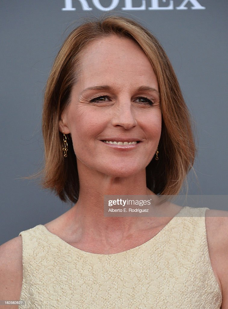Actress Helen Hunt attends the Walt Disney Concet Hall's 10th Anniversary Gala at the Walt Disney Concert Hall on September 30 2013 in Los Angeles...