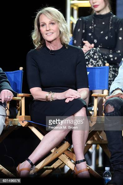 Actress Helen Hunt of the television show 'Shots Fired' speaks onstage during the FOX portion of the 2017 Winter Television Critics Association Press...