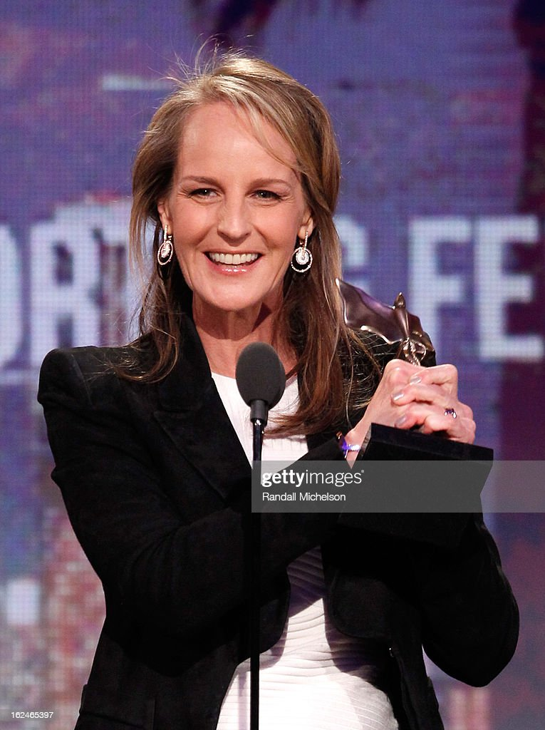 Actress Helen Hunt speaks onstage during the 2013 Film Independent Spirit Awards at Santa Monica Beach on February 23, 2013 in Santa Monica, California.
