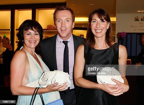Actress Helen Mccrory Actor Damian Lewis and Smythson's Creative Director Samantha Cameron attends the Smythson Beverly Hills Store Opening in...