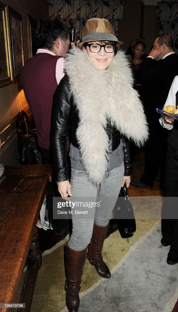 Actress Helen McCrory attends a VIP Screening of 'The Artist' hosted by the Weinstein Company at Charlotte Street Hotel on December 11 2011 in London...