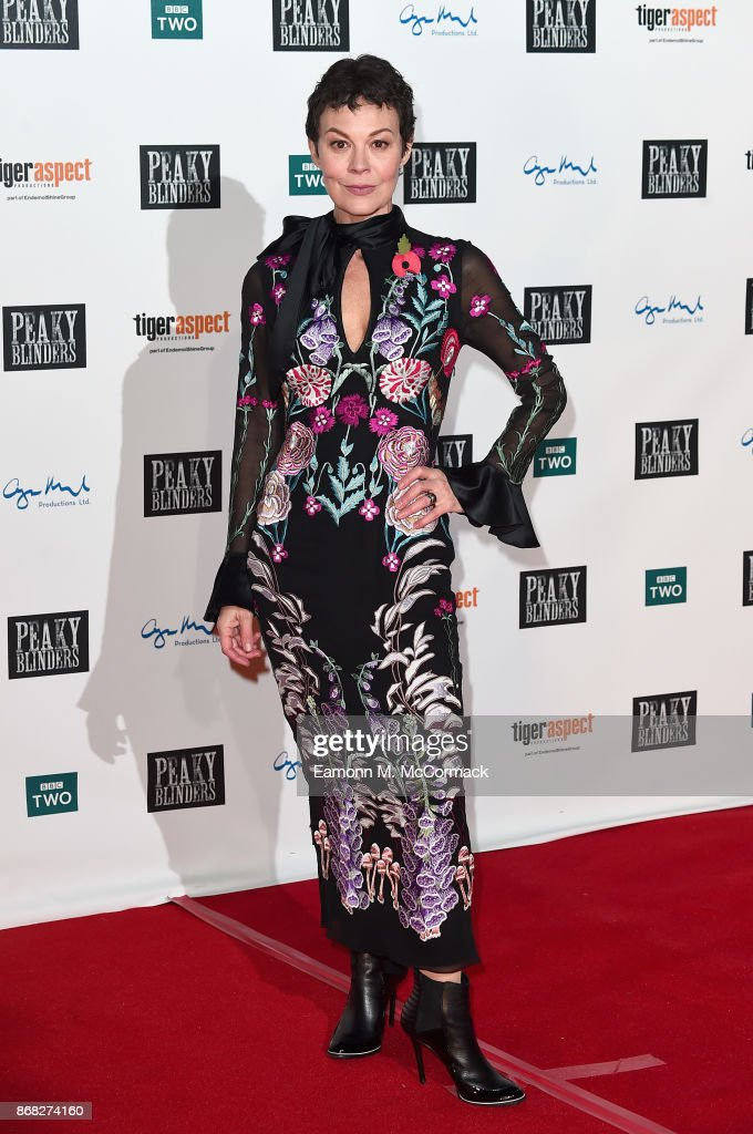 Actress Helen McCrory attends the Birmingham Premiere of Peaky Blinders at cineworld on October 30, 2017 in Birmingham, England.