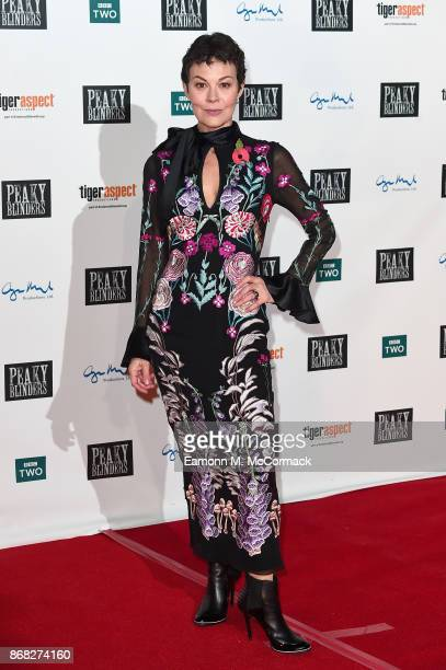 Actress Helen McCrory attends the Birmingham Premiere of Peaky Blinders at cineworld on October 30 2017 in Birmingham England