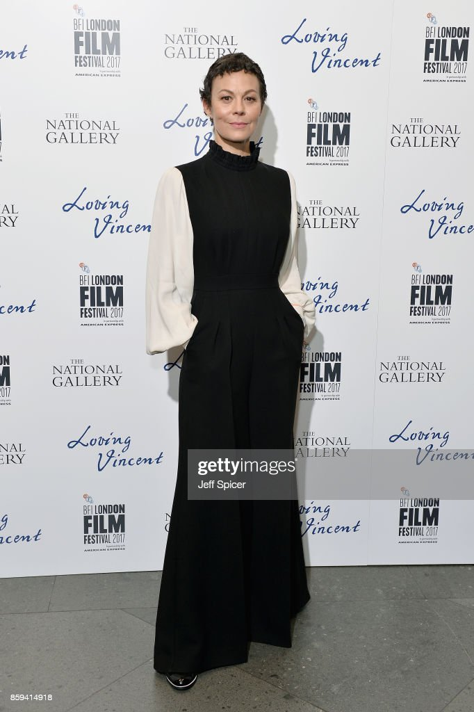 Actress Helen McCrory attends the UK Premiere of 'Loving Vincent' during the 61st BFI London Film Festival on October 9, 2017 in London, England.