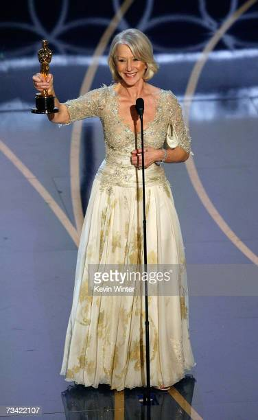 TELECAST*** Actress Helen Mirren accepts the Best Performance by an Actress in a Leading Role award onstage during the 79th Annual Academy Awards at...