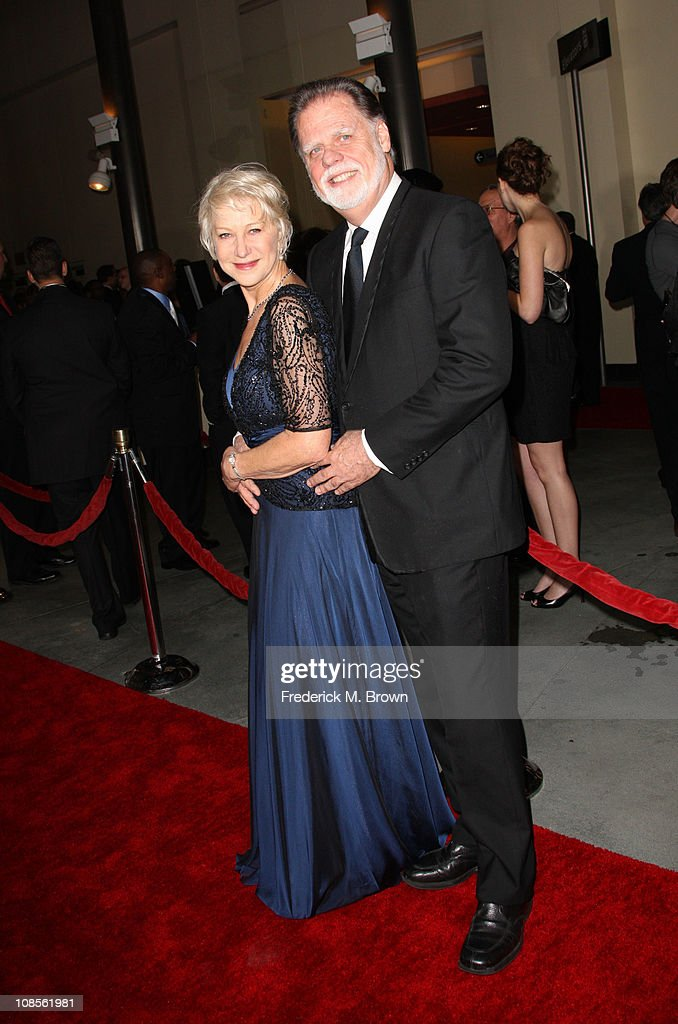 Actress Helen Mirren and DGA President Taylor Hackford arrive at the 63rd Annual Directors Guild Of America Awards held at the Grand Ballroom at...