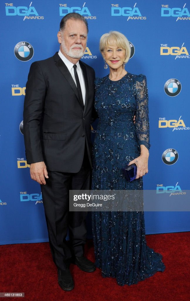 Actress Helen Mirren and director Taylor Hackford arrive at the 66th Annual Directors Guild Of America Awards at the Hyatt Regency Century Plaza on...