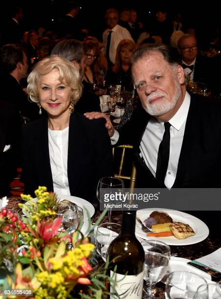 Actress Helen Mirren and director Taylor Hackford attend MusiCares Person of the Year honoring Tom Petty at the Los Angeles Convention Center on...