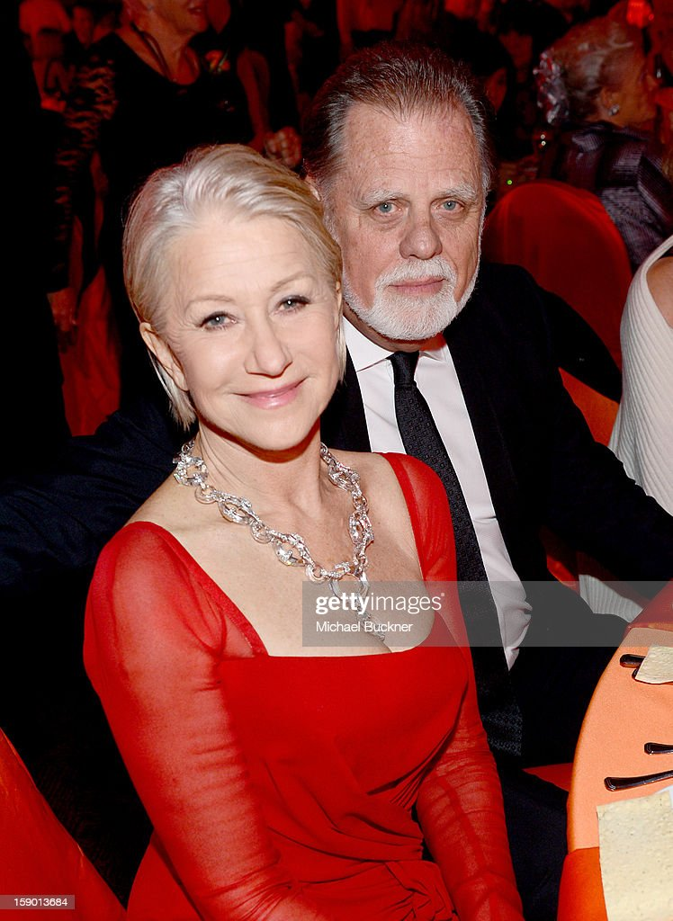 Actress Helen Mirren and director Taylor Hackford attend the 24th annual Palm Springs International Film Festival Awards Gala at the Palm Springs...