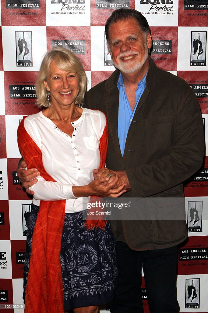 Actress Helen Mirren and director Taylor Hackford attend the screening of 'The Leopard' during the 2010 Los Angeles Film Festival at Orpheum Theatre...