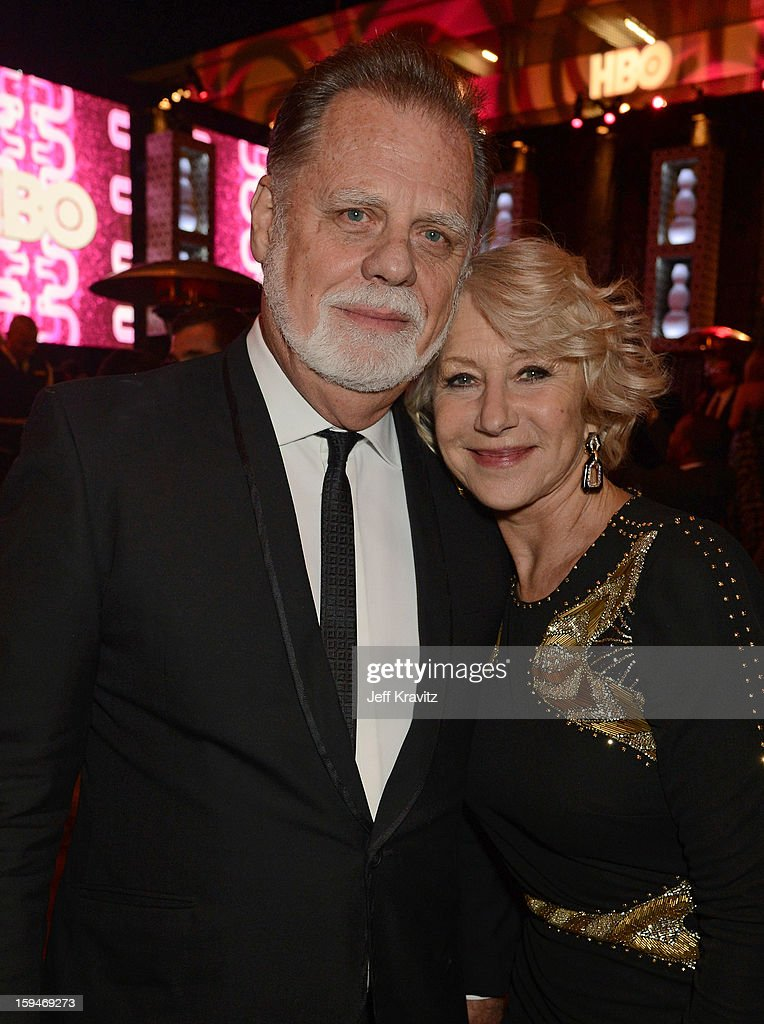 Actress Helen Mirren and director Taylor Hackford attends HBO's Official Golden Globe Awards After Party held at Circa 55 Restaurant at The Beverly Hilton Hotel on January 13, 2013 in Beverly Hills, California.