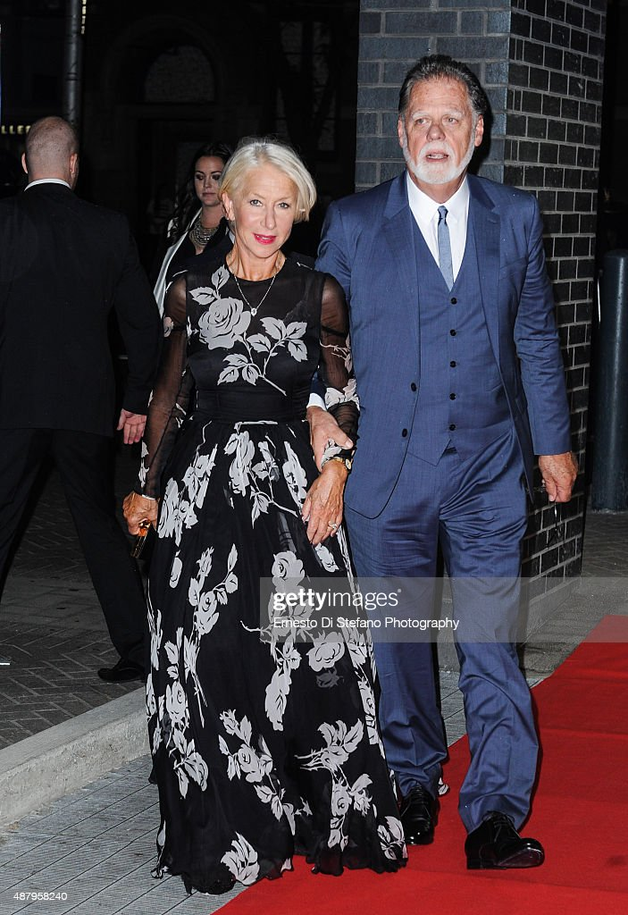 Actress Helen Mirren and husband Taylor Hackford attend the 'Eye In The Sky' post screening party copresented by Audi during the 2015 Toronto...